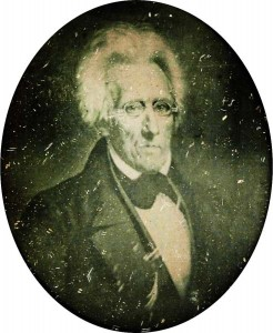 A daguerreotype of Andrew Jackson, supposed to be from the latter part of his presidency.