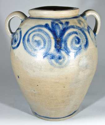 18th Century Stoneware Jar, James Morgan, Cheesequake, NJ.