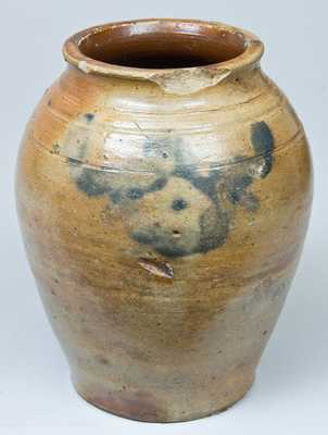 Small Cobalt-Decorated Stoneware Jar, attributed to Clarkson Crolius, Sr.