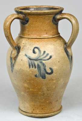 Three-Handled Stoneware Vase, NJ origin