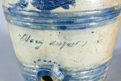 Antique Stoneware Water Cooler, Stamped