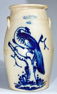J. & E. NORTON / BENNINGTON, VT. Stoneware Churn with Pheasant Decoration