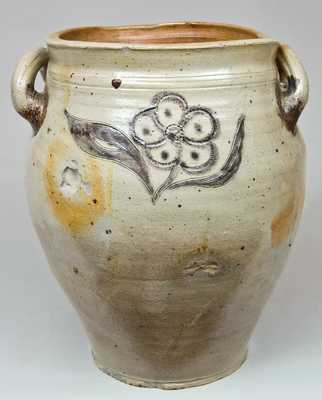 Incised Stoneware Jar with Cobalt and Manganese Slip