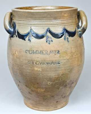COMMERAWS STONEWARE, Thomas Commeraw, New York Stoneware Jar