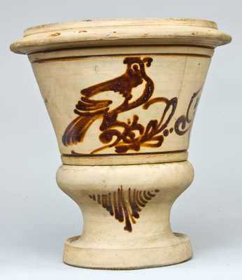 New York Stoneware Urn with Ochre Birds Decoration