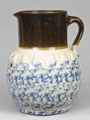 Sponge and Albany Slip Moulded Pitcher