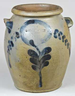H. Smith & Co., Alexandria, VA, Stoneware Crock w/ Incised