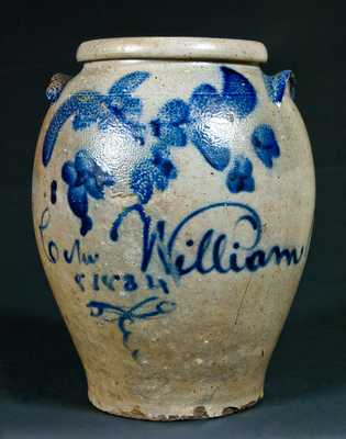 William Miller Strasburg, VA Stoneware Jar