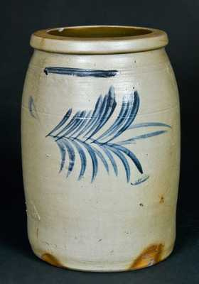 F.W. THOMPSON / Morgantown, WV Stoneware Crock