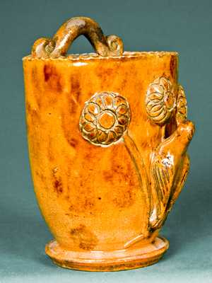 Shenandoah Valley Redware Wall Pocket, attrib. to Eberly