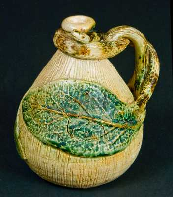 Salt-Glazed Stoneware Snake Jug, probably Anna Pottery or Texarkana Pottery