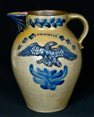 WM * PORTER, Pleasantville, Venango County, Pennsylvania, Stoneware Pitcher