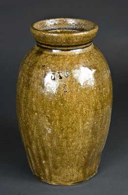 Small James Franklin Seagle, Vale, NC Stoneware Jar