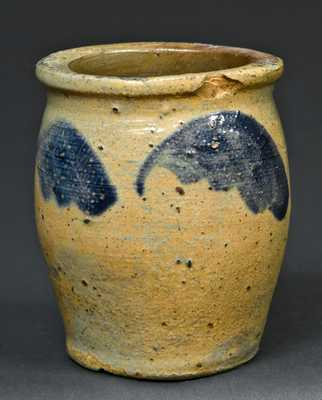 Miniature Stoneware Jar, attributed to Johnstown, PA