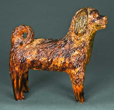 Large-Sized Bell Family, Shenandoah Valley, Redware Dog
