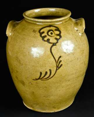 Alkaline-Glazed Stoneware Jar with Iron Slip