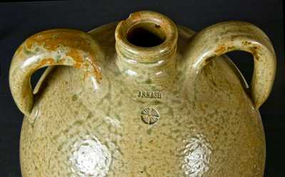 J. S. Nash, Marion Co., Texas, Double-Handled Stoneware Jug
