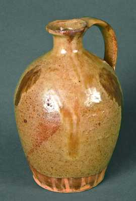 Very Fine Small New England Redware Jug