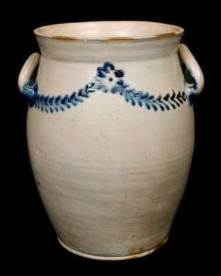 Baltimore Stoneware Jar w/ Open Handles, Morgan or Morgan & Amoss