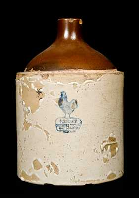 Ft. Dodge, Iowa, Stoneware Jug with Rooster Stamp