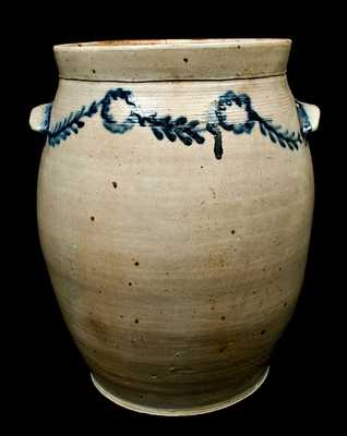 Monumental Stoneware Jar Signed