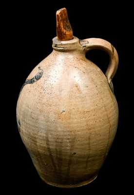 NY State Stoneware Jug with Incised Bird