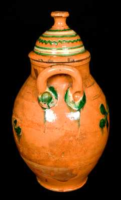 Great Road Pottery Redware Lidded Jar