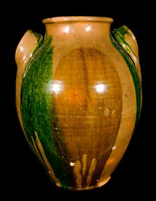 C.A. HAUN, Greene County, TN Redware Jar