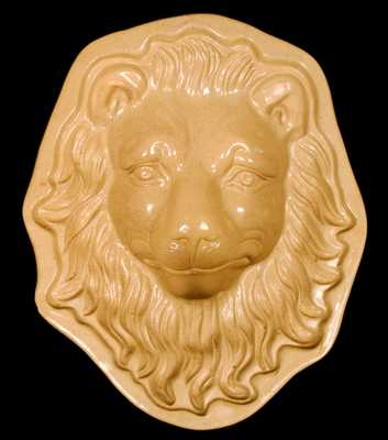 Yellowware Lion Head Mold