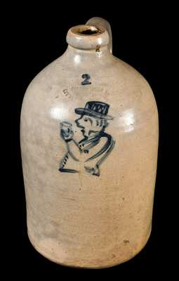 POTTERY WORKS / LITTLE WST 12TH ST. NY Stoneware Drunk Man Jug