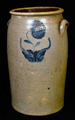 WESTHAFER AND LAMBRIGHT, Tuscarawas Co., Ohio Stoneware Churn, 8 Gal.