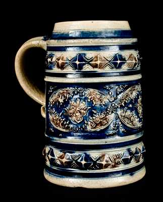 Fine Westerwald Stoneware Mug with Applied Medallions, c1710