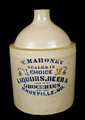 KNOXVILLE, MD Stoneware Advertising Jug