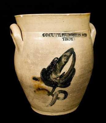 ORCUTT. HUMISTON & CO / TROY, New York Stoneware Jar