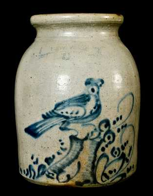 NEW YORK STONEWARE CO, Fort Edward, NY Bird Crock