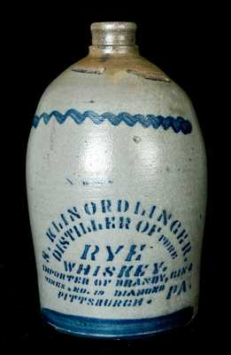 Pittsburgh, PA Stoneware Advertising Jug
