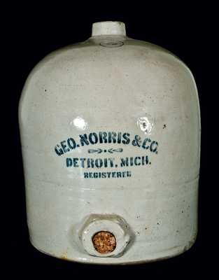 Detroit, Michigan, Stoneware Advertising Jug