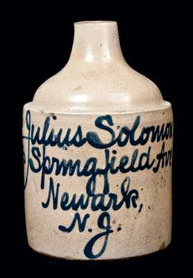 Newark, NJ, Advertising Jug by Fulper, Flemington, NJ