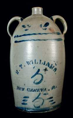 R.T. WILLIAMS / NEW GENEVA, PA Double-Handled Jug