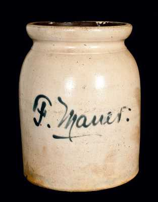 Probably J. Fisher, Lyons, New York, Stoneware Jar