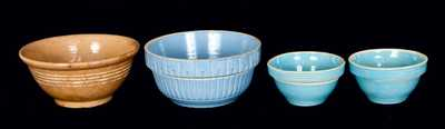 (4) American Pottery Bowls
