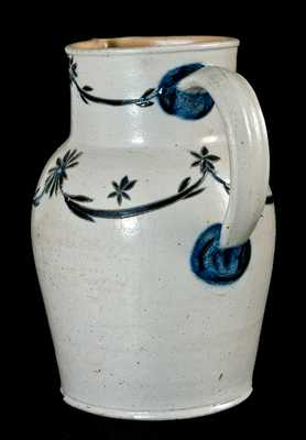 Early Baltimore Stoneware Pitcher w/ Fine Incising