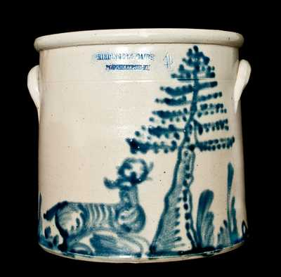 RIEDINGER & CAIRE / POUGHKEEPSIE, NY Stoneware Deer Crock