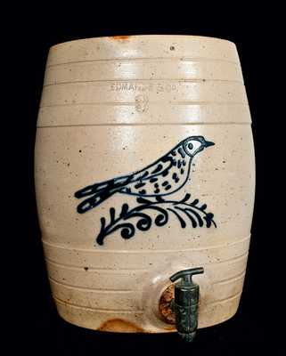 EDMANDS & CO (Boston Area) Stoneware Water Cooler w/ Bird