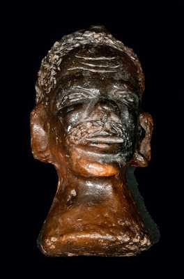 Detailed Sewer Tile Bust of an African-American Man