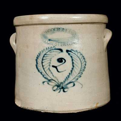 BURGER & LANG / ROCHESTER, N.Y. Stoneware Crock