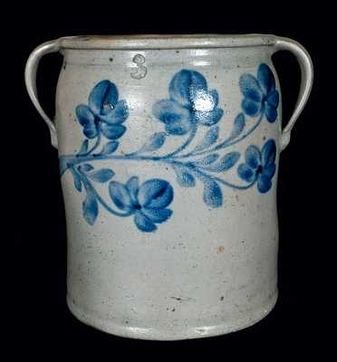 Attrib. J.H. Miller, Brandenburg, Kentucky Stoneware Double-Handled Pot