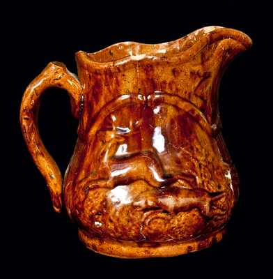 American Redware Pitcher, Possibly New Jersey