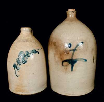 (2) Stoneware Jugs (SEYMOUR & BOSWORTH / HARTFORD, CONN and Midwestern Piece)