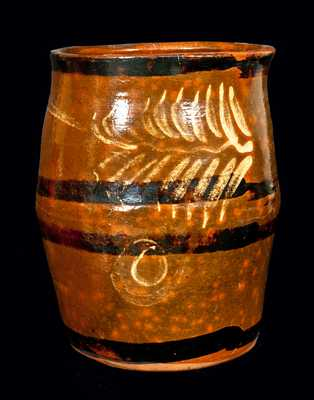 Outstanding Rochester-Genesee Valley, New York, Redware Jar